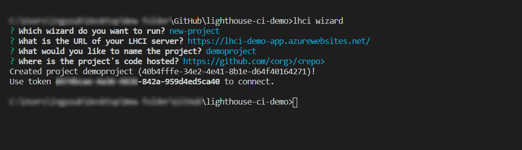 Lighthouse CI Wizard Screenshot